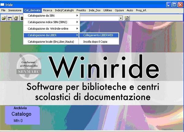 Esempio schermata Winiride, figura 1